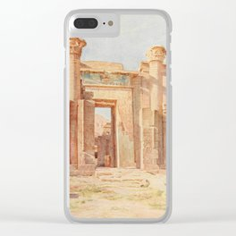 Tyndale, Walter (1855-1943) - Below the Cataracts 1907, The Ptolemaic Pylon, Medinet Habu Clear iPhone Case