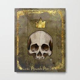 Memento Mori (gray and gold) Metal Print