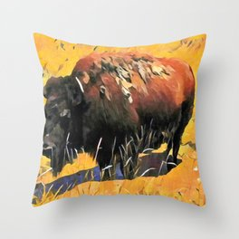 Muddy Buffalo Throw Pillow