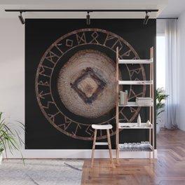 Ingwaz Elder Futhark Rune Male fertility, gestation, internal growth. Common virtues, common sense Wall Mural