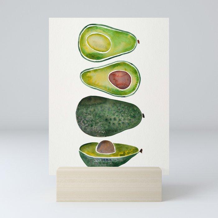 Avocado Slices Mini Art Print
