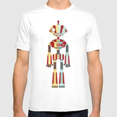 Robot Mens Fitted Tee MEDIUM White