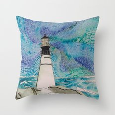 The Moody Blue Light Throw Pillow