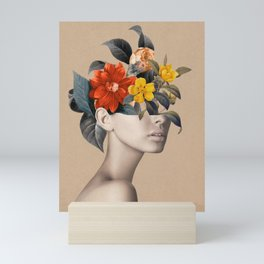 woman with flowers 8 Mini Art Print