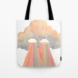 Cloud pink Tote Bag