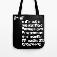pi Tote Bags featuring Bad Pi by mailboxdisco