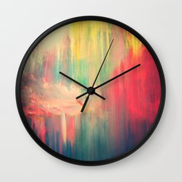 Large Painting on Canvas, Modern Art Abstract Painting, Original Abstract Acrylic Painting, Wall Art Wall Clock