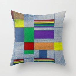 Mid-Century Modern Art - Rainbow Pride 1.0 Throw Pillow