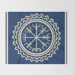 Viking Vegvisir Compass Throw Blanket