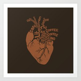 Coffee Lover Heart Art Print