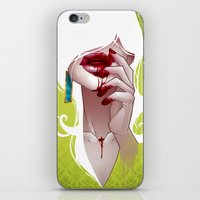 the vampire diaries iPhone & iPod Skins featuring Vampire by Kimball Gray