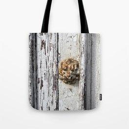 Rusty Lion door knob Tote Bag