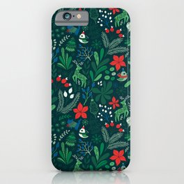 Merry Christmas pattern iPhone Case