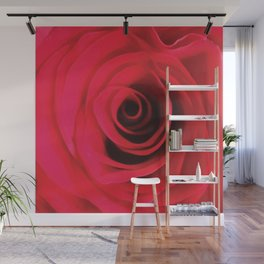 Fire Red Rose Wall Mural