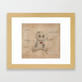 Sew Me Up Again Framed Art Print