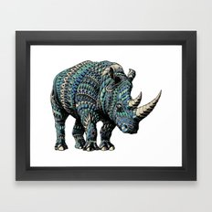 Rhinoceros (Color Version) Framed Art Print