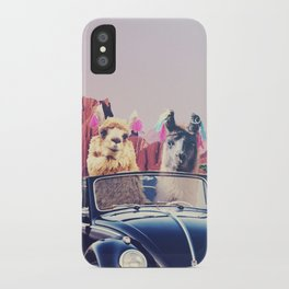 Llamas on the road iPhone Case