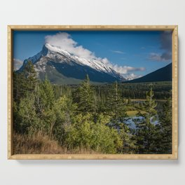 View of Mount Rundle Serving Tray