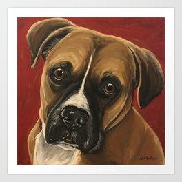 Boxer art from original Boxer Dog Painting Art Print