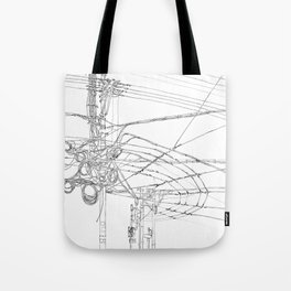 Shanghai. China. Cables symphony Tote Bag