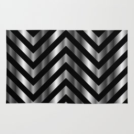 High grade raw material stainless steel and black zigzag stripes Rug