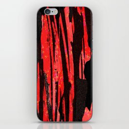 Unique Abstract Scarlet and Black Design iPhone Skin