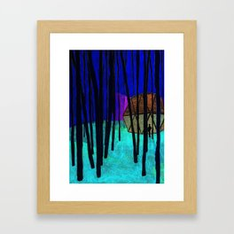 Forest shelter Framed Art Print
