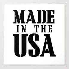 Made in the USA - black text Canvas Print