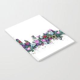 new york skyline floral 2 Notebook