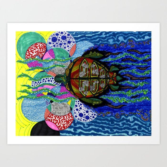 torto s lsd trip art print by klark society6