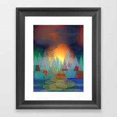 Alpine Sunset Framed Art Print