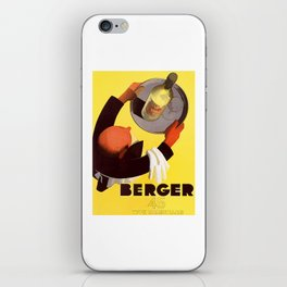 Vintage Berger 45 Wine Advert - Circa 1935 iPhone Skin