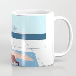 Yoga with a cat Coffee Mug