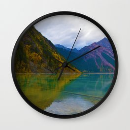 Kinney Lake in Mount Robson Provincial Park, BC / Canada Wall Clock