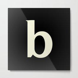 b (BEIGE & BLACK LETTERS) Metal Print