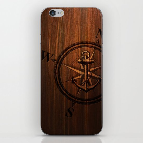 Wooden Anchor iPhone & iPod Skin