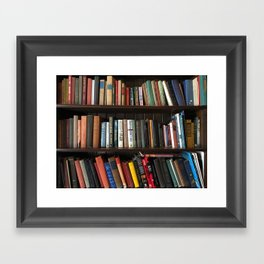 The Bookshelf in the Library Framed Art Print