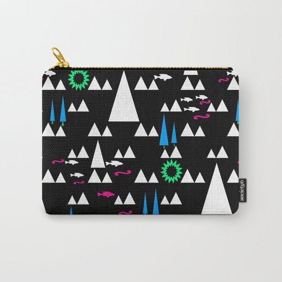 Ethnic simple pattern . Black . Carry-All Pouch