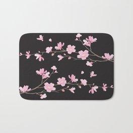 Cherry Blossom - Black Bath Mat