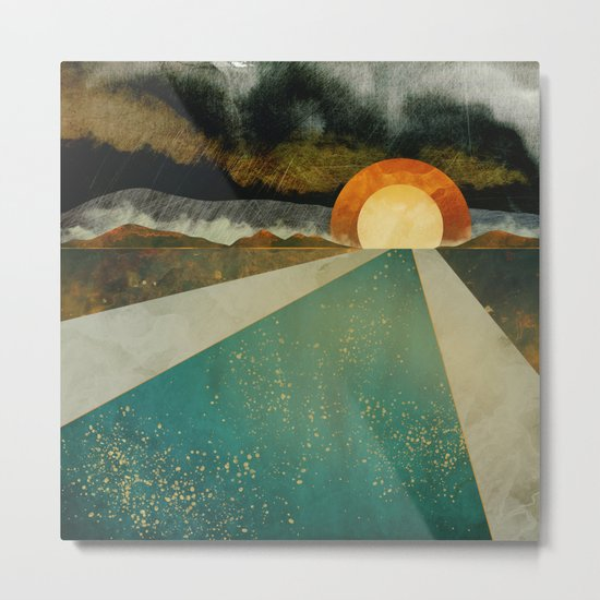 Retro Sunset Metal Print