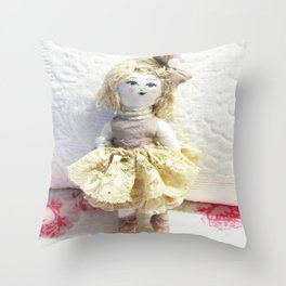 Doll in Lace~ Throw Pillow