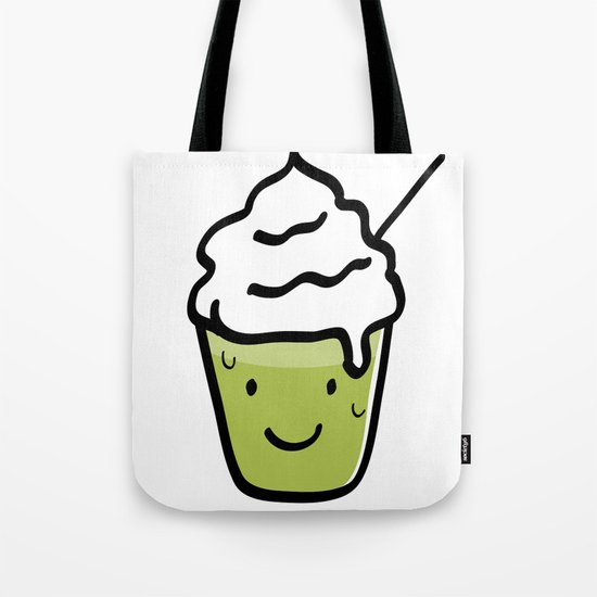 Green tea frappuccino Tote Bag