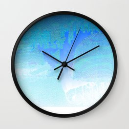 Faded in Frost - Digital Grunge Abstract Wall Clock