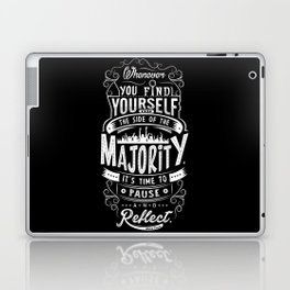 Lab No. 4 Whenever You Find Yourself Mark Twain Quotes Laptop & iPad Skin