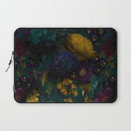 Before Midnight Blue Hour Vintage Flowers Garden Laptop Sleeve