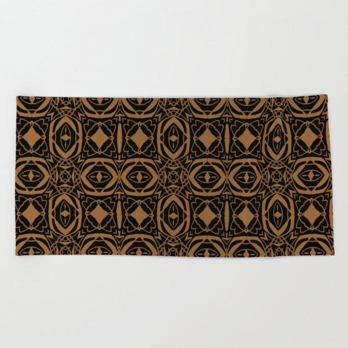 Black and Bronze 2666 Beach Towel