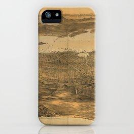 Bird's Eye View of San Francisco, California (1868) iPhone Case