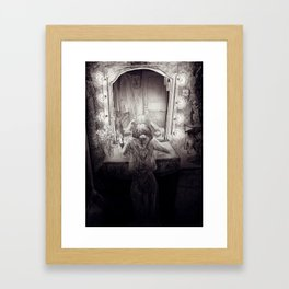 A crying showgirl Framed Art Print