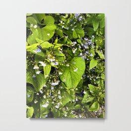 Blue Florets Metal Print