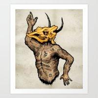 taurus Art Prints featuring Taurus by sociopteryx